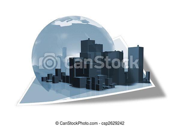 Edificio de negocios - csp2629242