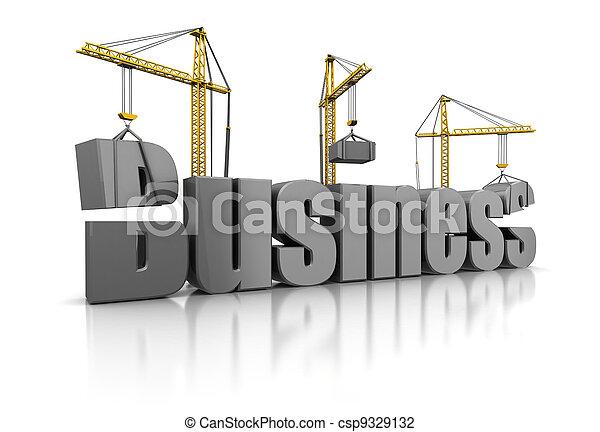 edificio, empresa / negocio - csp9329132