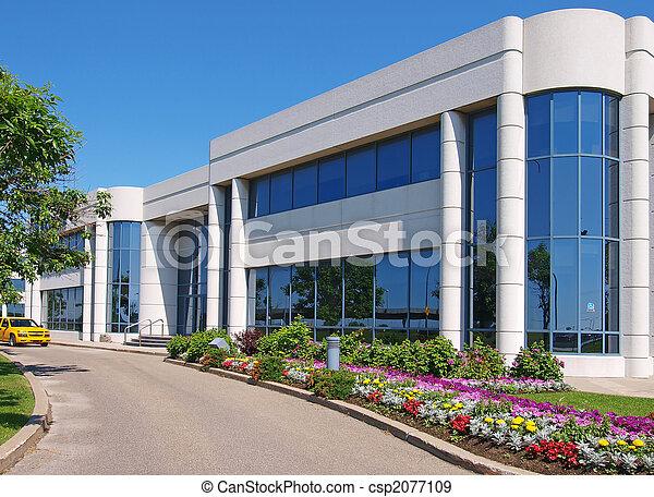 edificio, entranceway, parque industrial - csp2077109