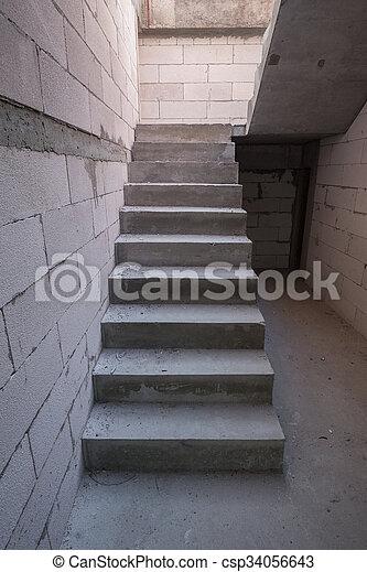 Edificio escalera casa cemento concreto residencial Modelos de escaleras de cemento