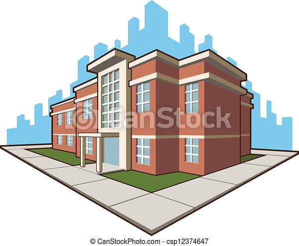 edificio, escuela - csp12374647