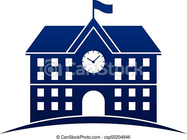 edificio, escuela, icono - csp50204846