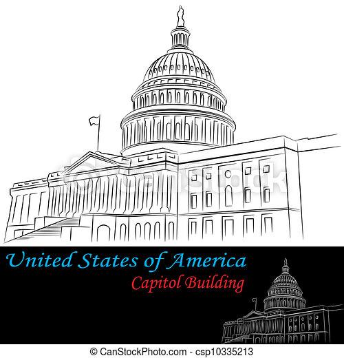 Estados Unidos de América, edificio de capital - csp10335213