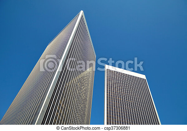 Edificio Fondo Cielo Oficina Edificio Oficina Los Cielo