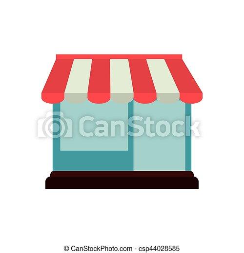 Comprando en línea el edificio de tiendas gráfica - csp44028585