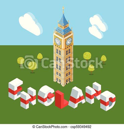 Gran edificio isométrico Ben - csp59349492