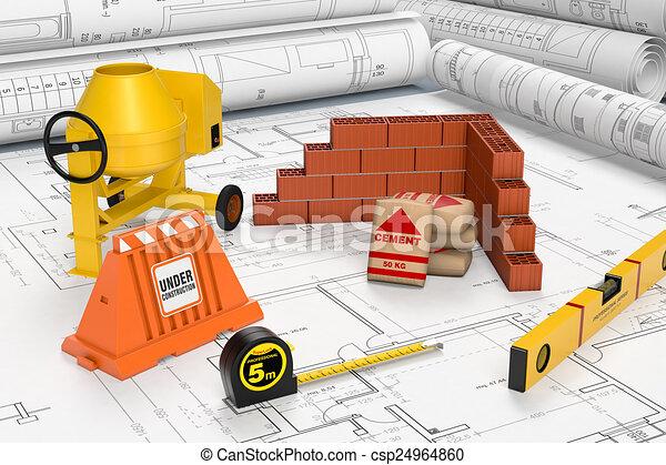 Herramientas de construcción - csp24964860