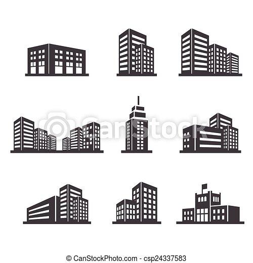 edificio, icono - csp24337583