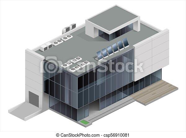 Centro comercial de edificios isométricos - csp56910081
