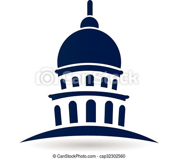 Edificio capitolio de Logo - csp32302560