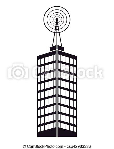 Edificio Mástil De La Televisión Telecomunicación