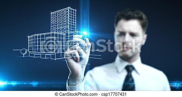 edificio, modelo - csp17707431