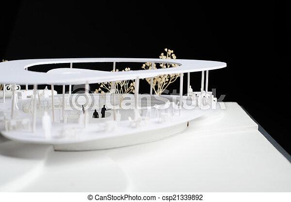 Modelo de un edificio moderno - csp21339892