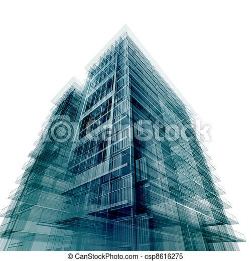 edificio, moderno, oficina - csp8616275