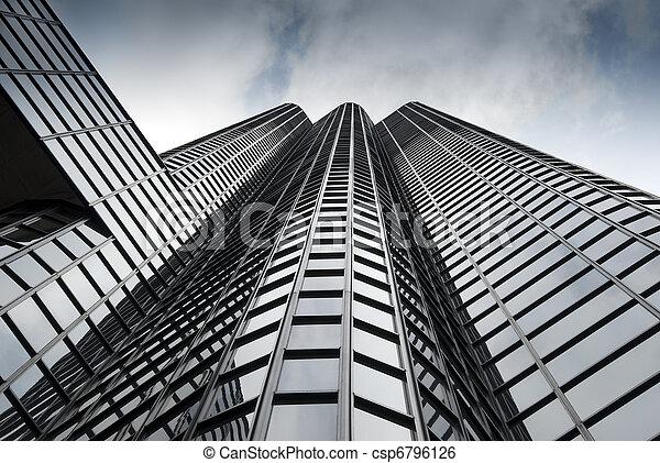 edificio, moderno, perspectiva, vista - csp6796126