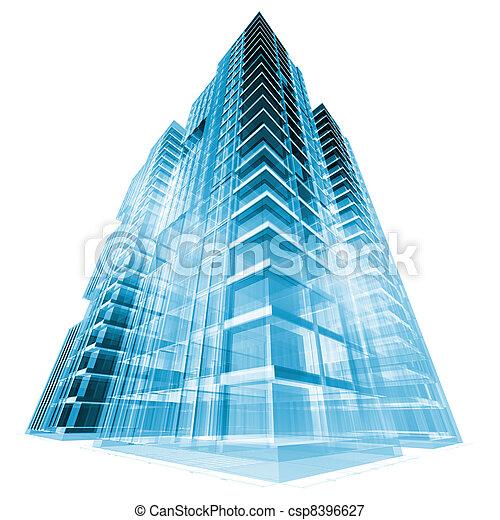 Edificio moderno - csp8396627