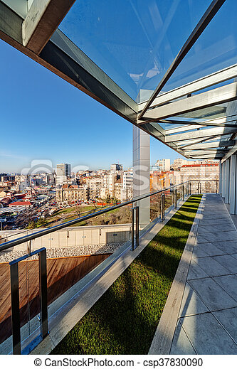 Edificio Moderno Terraza