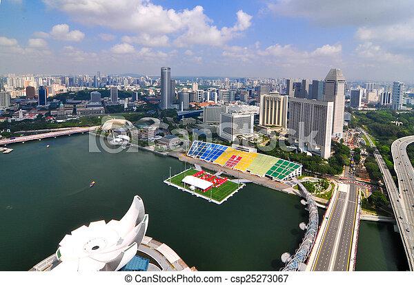 Construyendo una ciudad de negocios en Singapur - csp25273067