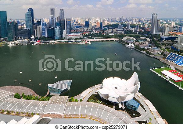 Construyendo una ciudad de negocios en Singapur - csp25273071