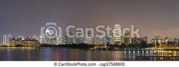 Panorama construyendo en Singapur. - csp37568600
