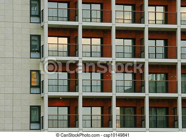 Patrón de construcción moderno - csp10149841