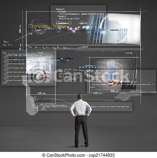 edificio, sitio web - csp21744833
