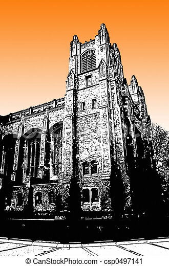 Edificio universitario - csp0497141