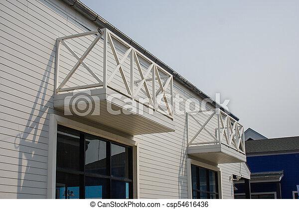 Edificios De Madera Exterior Arquitectura Almacén Terraza