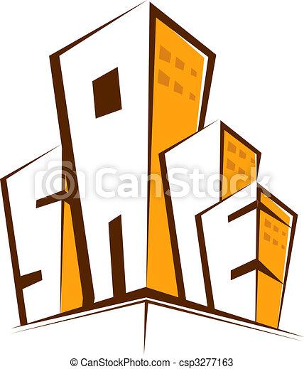 Dibujos de edificios  Illustration de multi almacn edificios