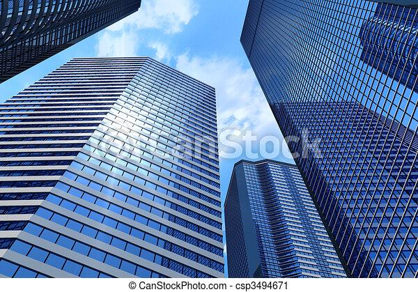 Edificios de negocios - csp3494671
