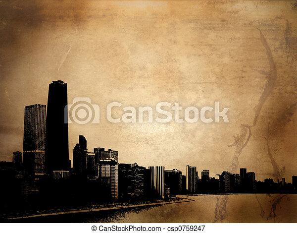edificios, grunge - csp0759247