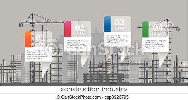 Industria de edificios, infográficos - csp39267951