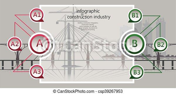 Industria de edificios, infográficos - csp39267953