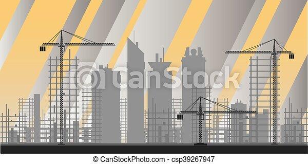 Industria de edificios, infográficos - csp39267947