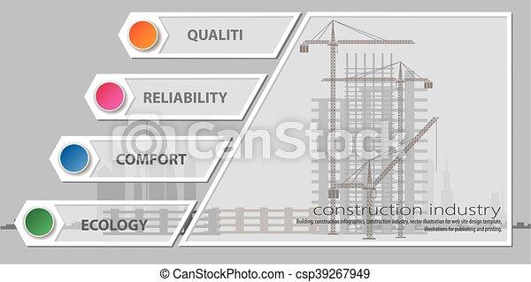 Industria de edificios, infográficos - csp39267949