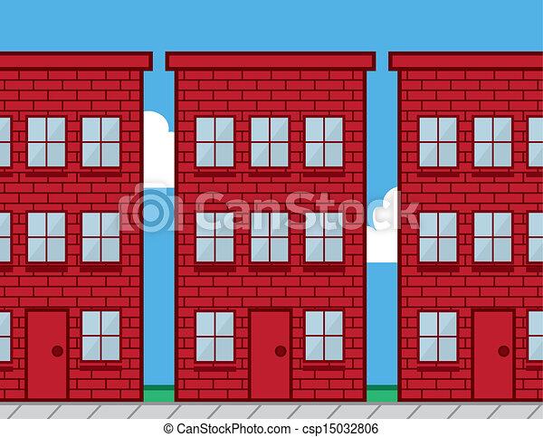 Edificios rojos - csp15032806
