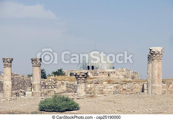 edificios, nacional, sitio, histórico, amman, ciudadela - csp25190000