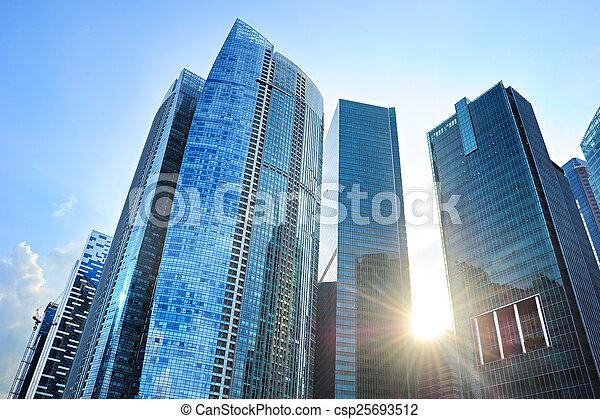 edificios, oficina, singapur - csp25693512