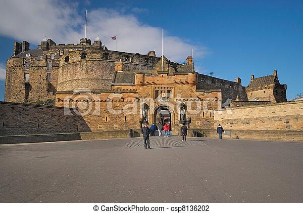 Edinburgh Castle Entrance - csp8136202