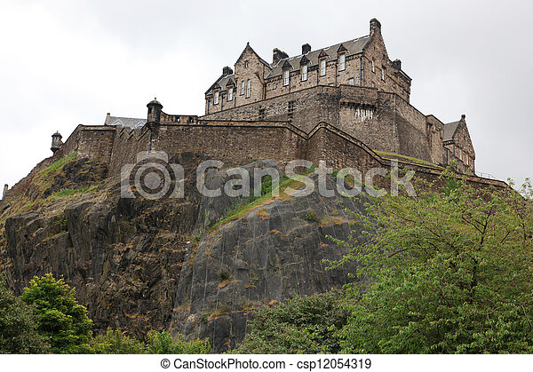 Edinburgh Castle, Scotland, UK - csp12054319
