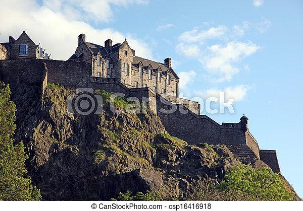 Edinburgh Castle , Scotland, UK - csp16416918