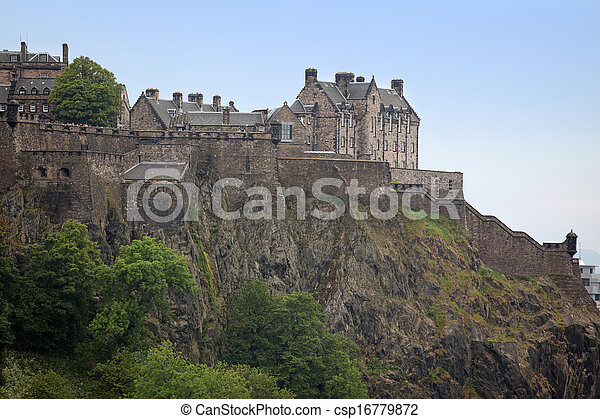 Edinburgh Castle , Scotland, UK - csp16779872