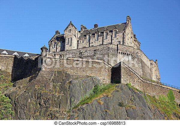 Edinburgh Castle , Scotland, UK - csp16988813