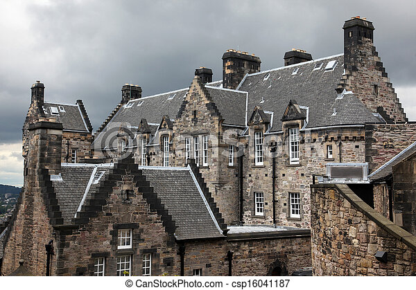 Edinburgh Castle, Scotland, UK - csp16041187