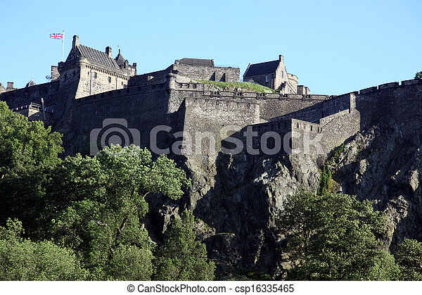 Edinburgh Castle , Scotland, UK - csp16335465