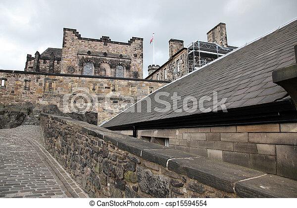 Edinburgh Castle , Scotland, UK - csp15594554