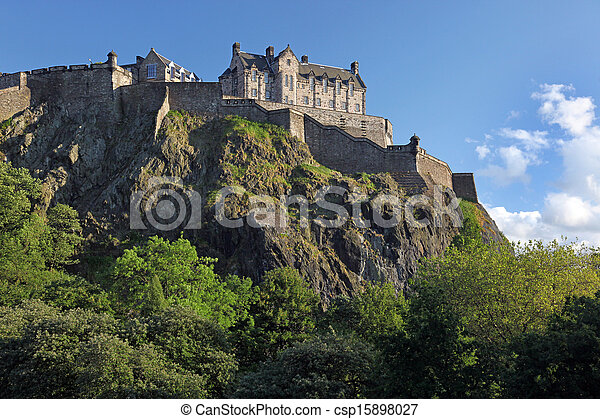 Edinburgh Castle , Scotland, UK - csp15898027