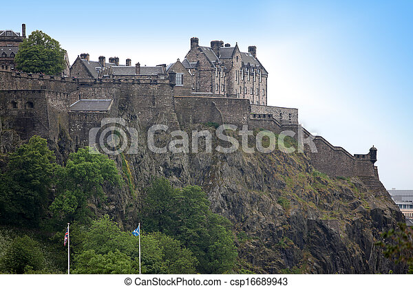 Edinburgh Castle , Scotland, UK - csp16689943