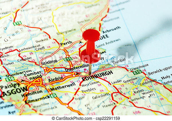 edinburgh, skottland, karta - csp22291159