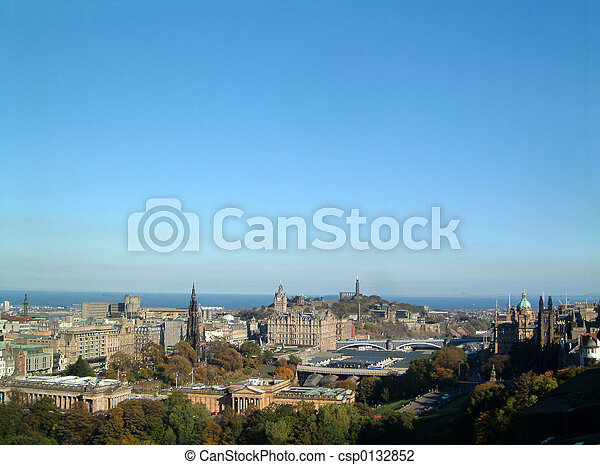 Edinburgh Skyline - csp0132852